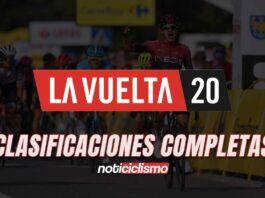 Vuelta a España 2020 - Clasificaciones Completas