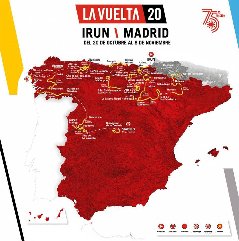 Vuelta a España 2020 - Recorrido