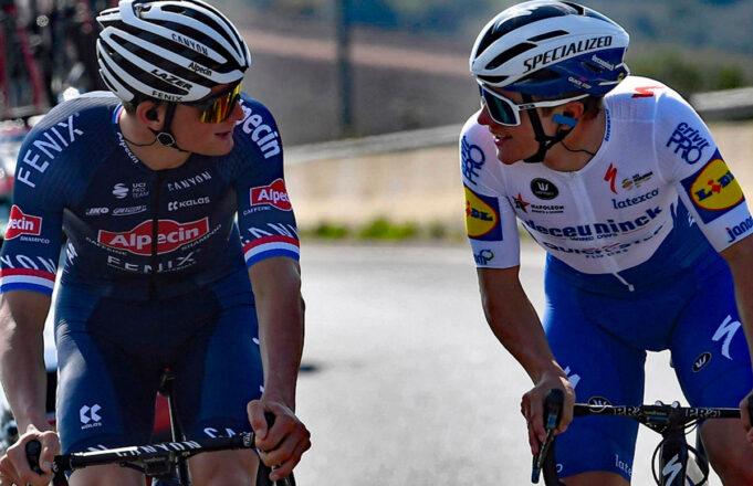 Mathieu Van der Poel (Alpecin-Fenix) y Remco Evenepoel (Deceuninck-Quick Step)