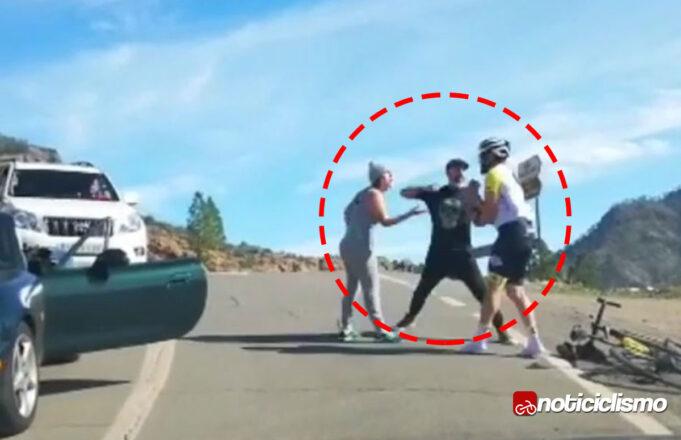 Brutal agresión de un conductor a un ciclista en España