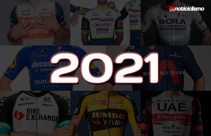 Los Maillots de los Equipos WorldTour 2021
