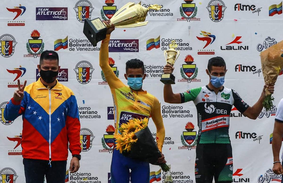 Pódium de la Vuelta al Táchira 2021