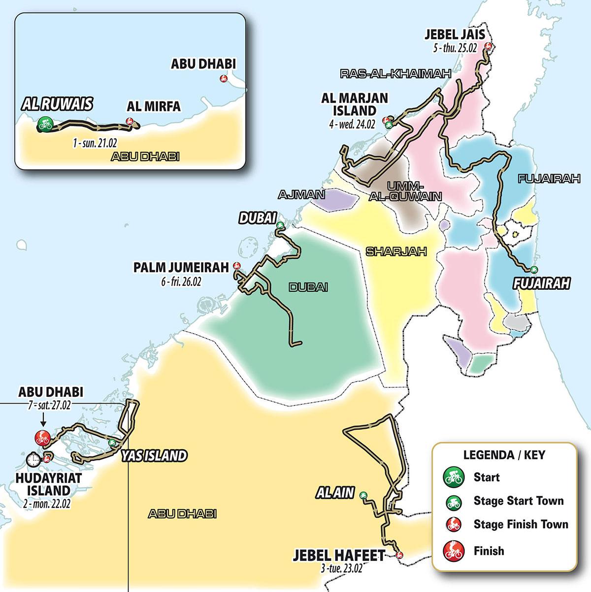 UAE Tour 2021 - Recorrido