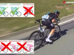 La UCI aclara cuales son las posturas prohibidas en los descensos