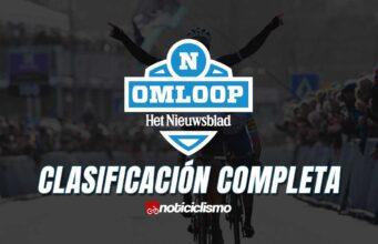 Omloop Het Nieuwsblad - Clasificación Completa