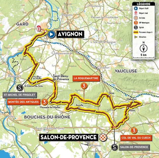Recorrido (Etapa 4) Tour de La Provence 2021