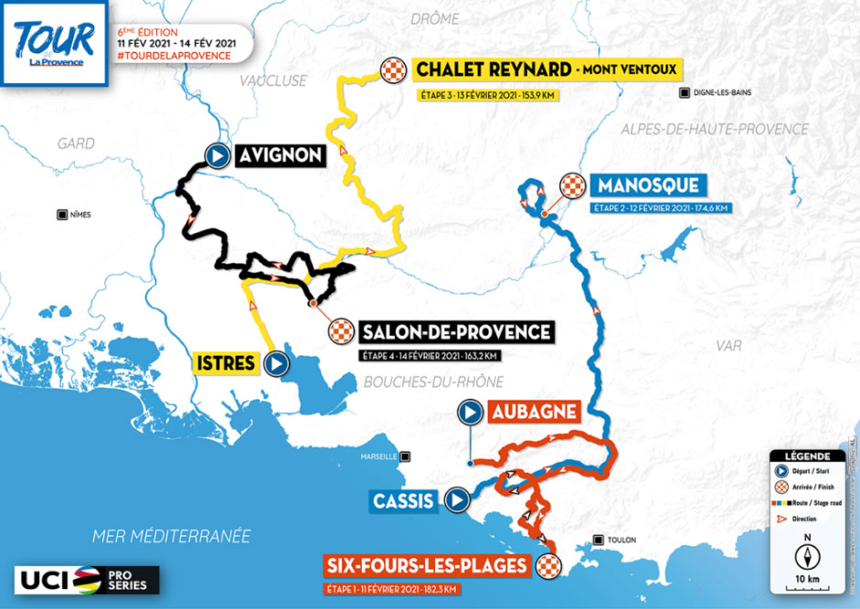 Tour de La Provence 2021 - Recorrido