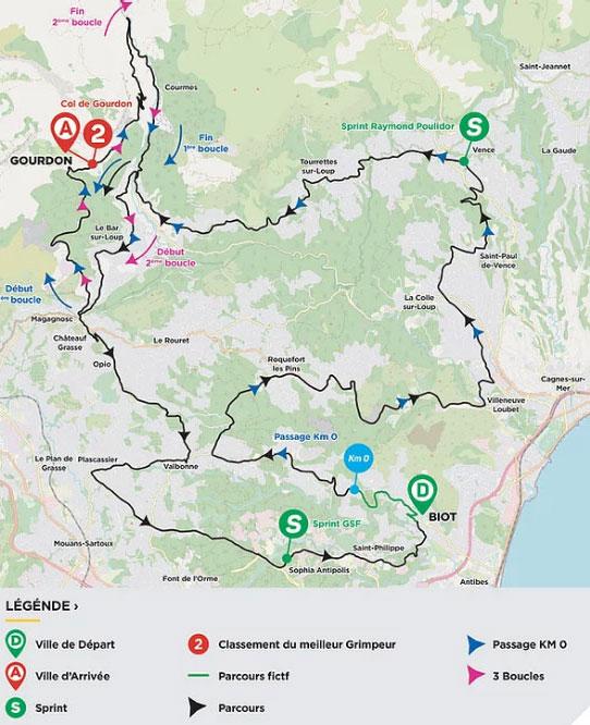 Tour des Alpes Maritimes et du Var 2021 (Etapa 1) Recorrido