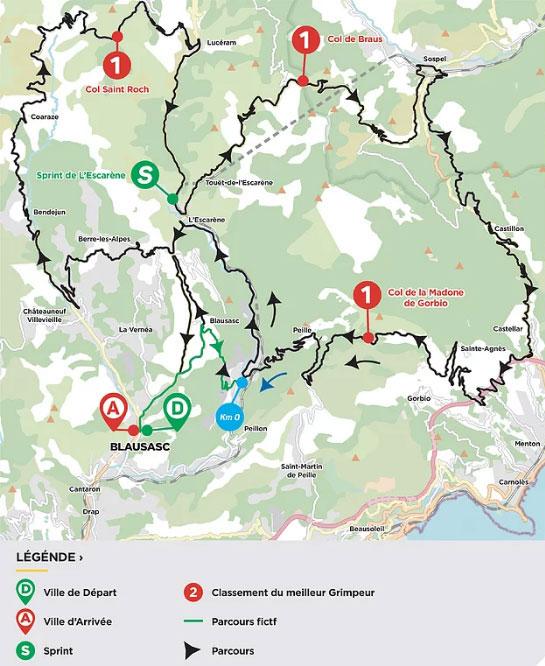Tour des Alpes Maritimes et du Var 2021 (Etapa 3) Recorrido