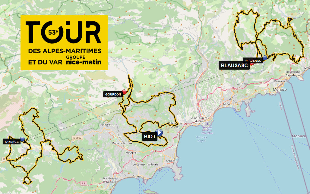 Tour des Alpes Maritimes et du Var 2021 - Recorrido