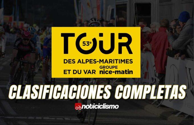 Tour des Alpes Maritimes et du Var - Clasificaciones Completas
