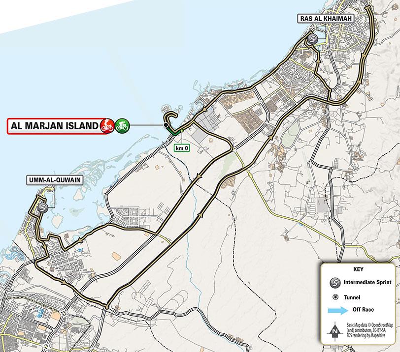 UAE Tour 2021 (Etapa 4) Recorrido