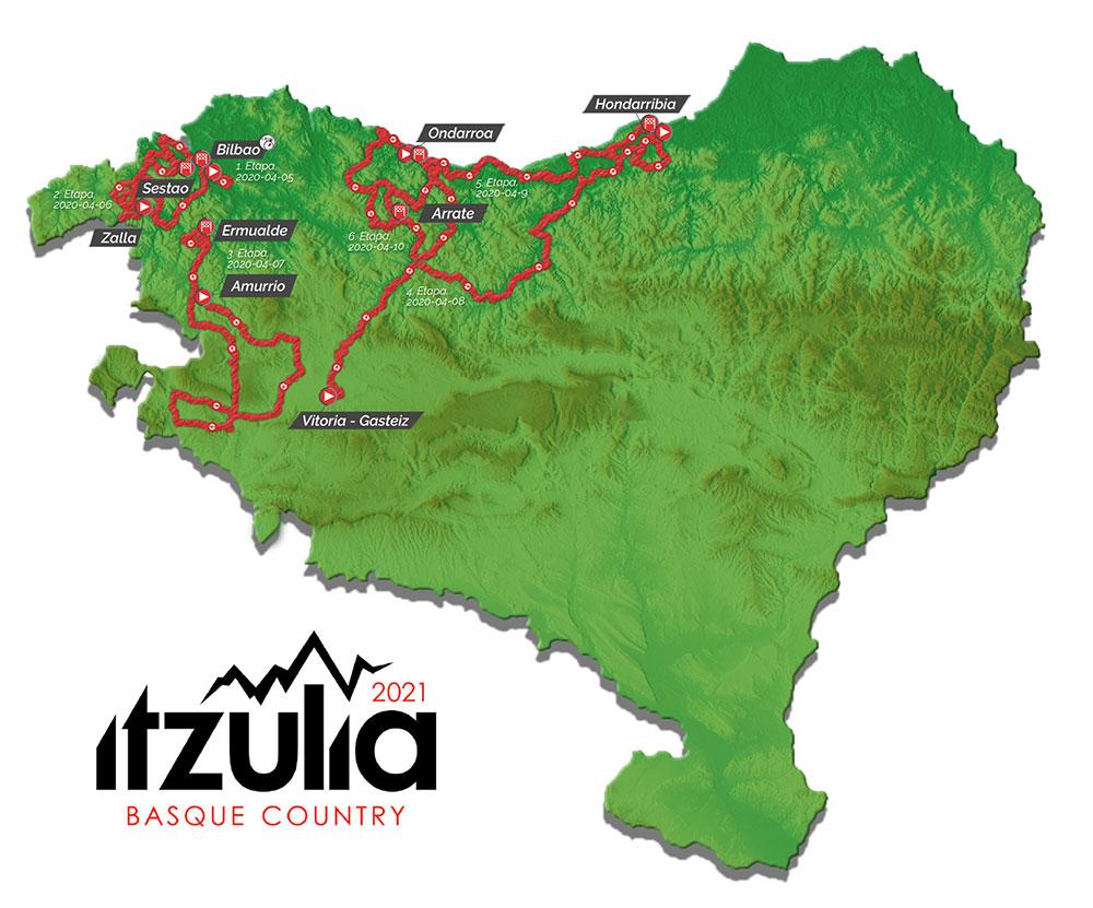 Vuelta al País Vasco 2021 - Recorrido