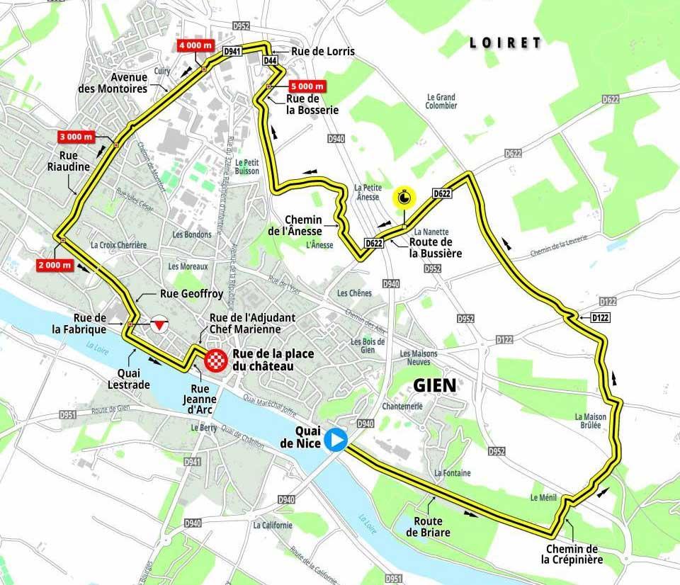 Recorrido Etapa 3 de la Paris-Niza 2021