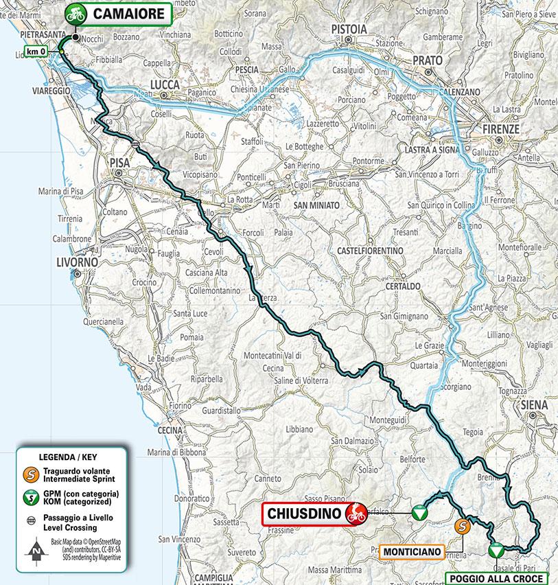 Tirreno-Adriático 2021 (Etapa 2) Recorrido