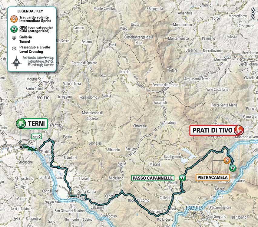 Tirreno-Adriático 2021 (Etapa 4) Recorrido