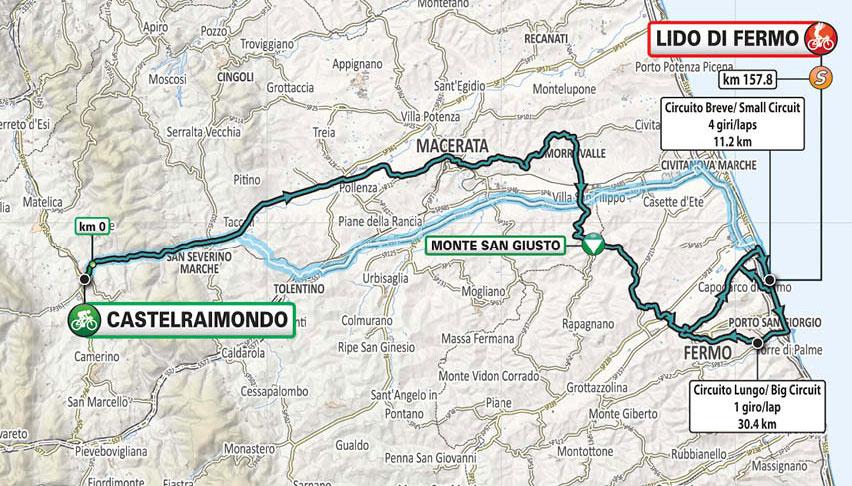 Tirreno-Adriático 2021 (Etapa 6) Recorrido