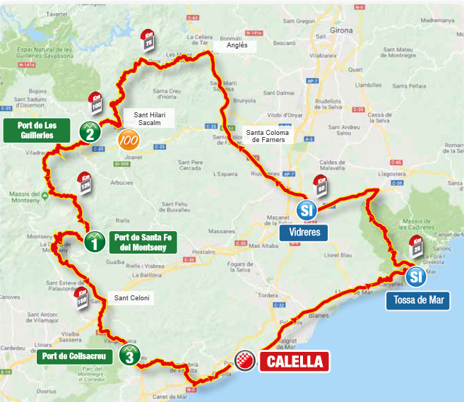 Volta a Catalunya 2021 (Etapa 1) Recorrido
