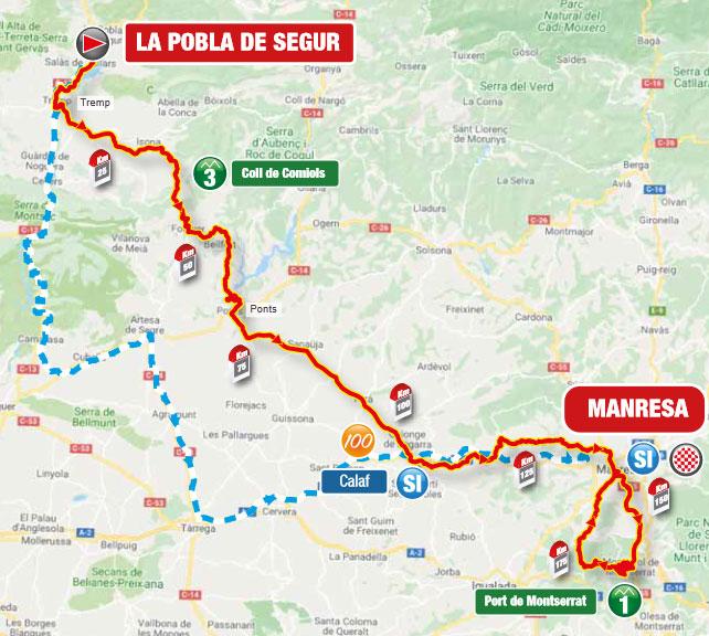 Volta a Catalunya 2021 (Etapa 5) Recorrido