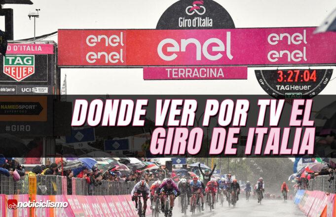Donde ver por TV el Giro de Italia