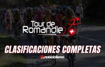 Tour de Romandía - Clasificaciones Completas