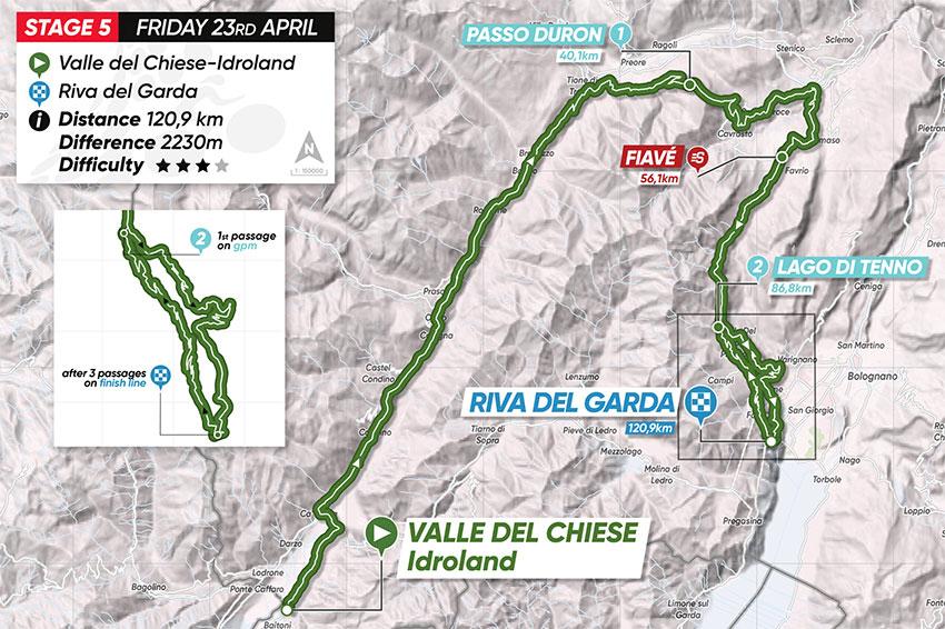 Tour de los Alpes 2021 (Etapa 5) Recorrido