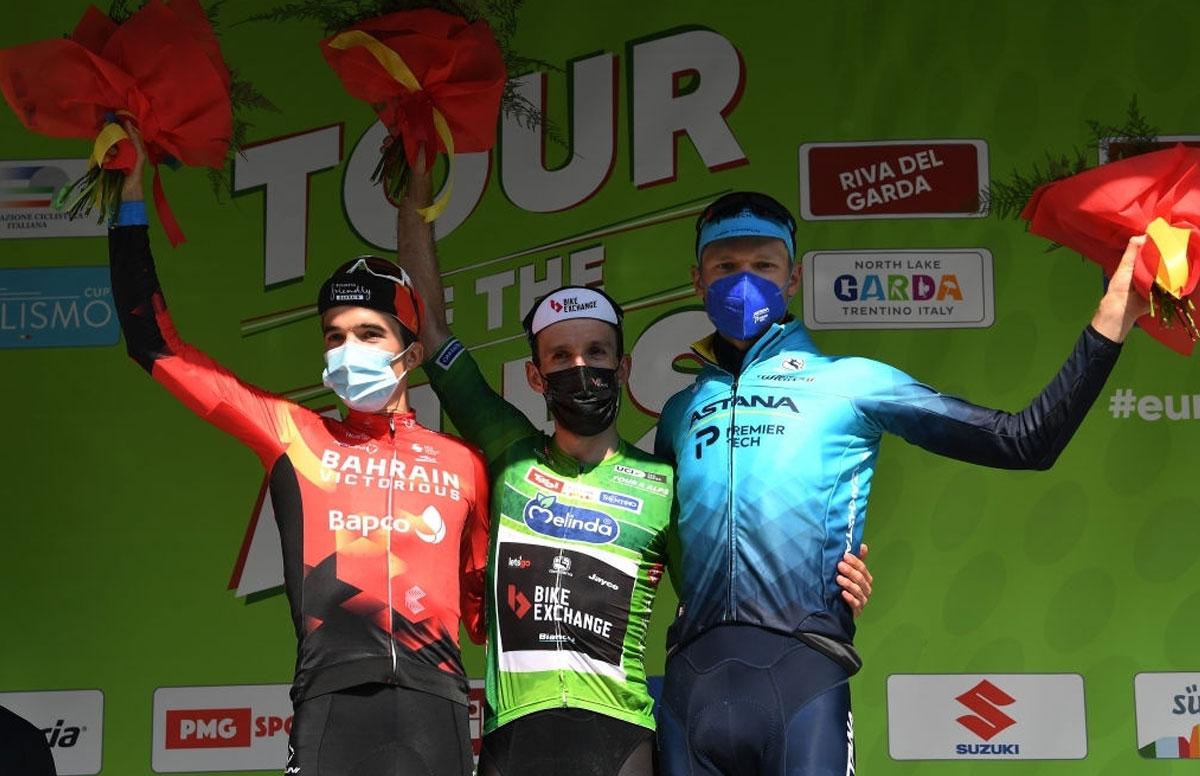 Pódium del Tour de los Alpes 2021