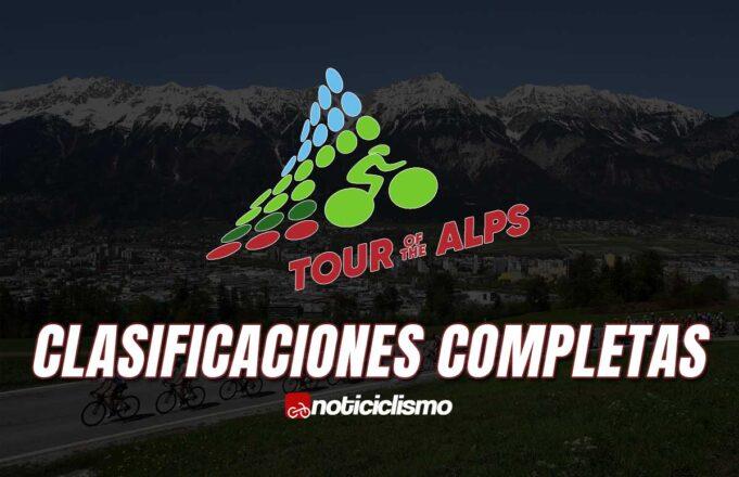 Tour de los Alpes - Clasificaciones Completas
