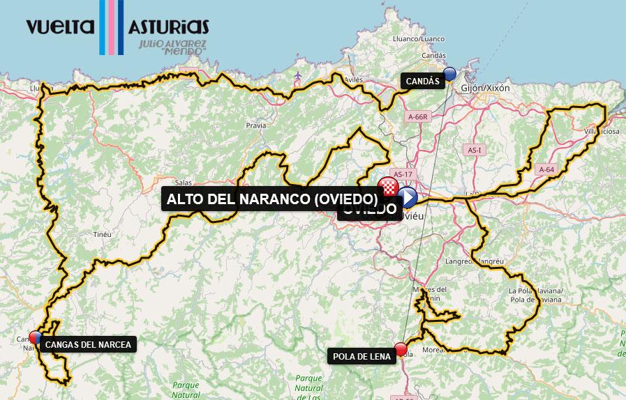 Recorrido de la Vuelta Asturias 2021