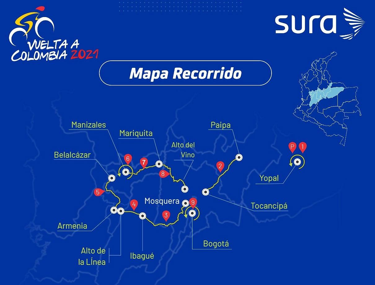 Vuelta a Colombia 2021 - Recorrido