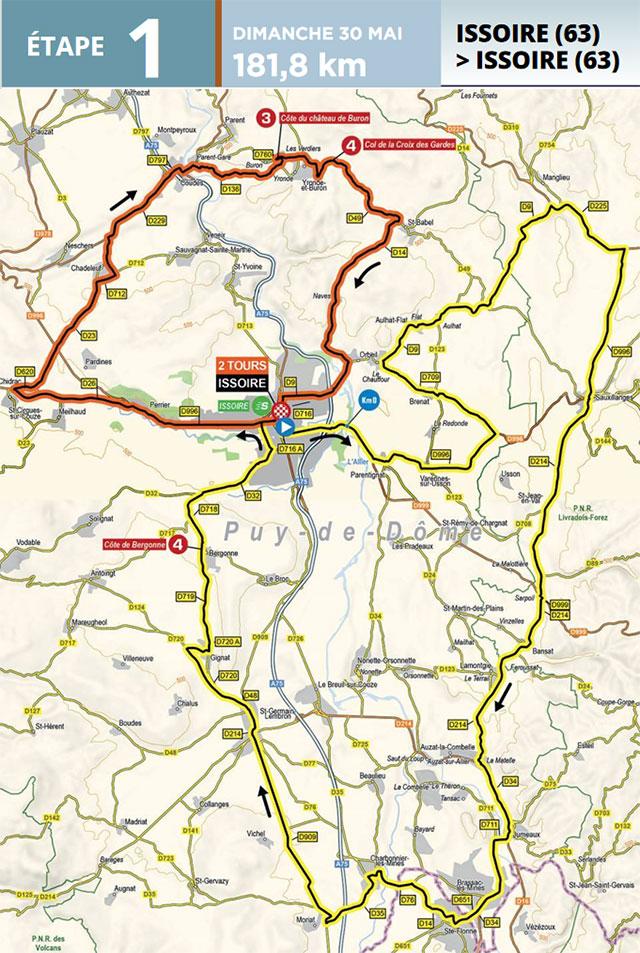 Critérium du Dauphiné 2021 - Etapa 1 - Recorrido