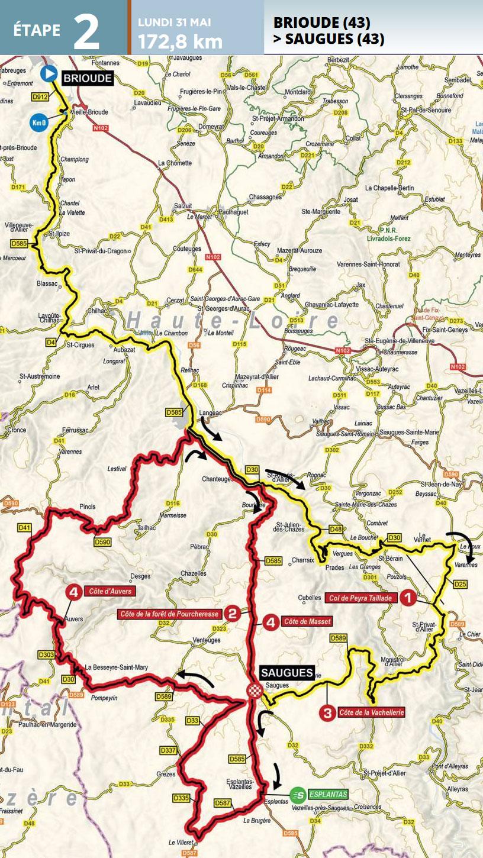 Critérium du Dauphiné 2021 - Etapa 2 - Recorrido