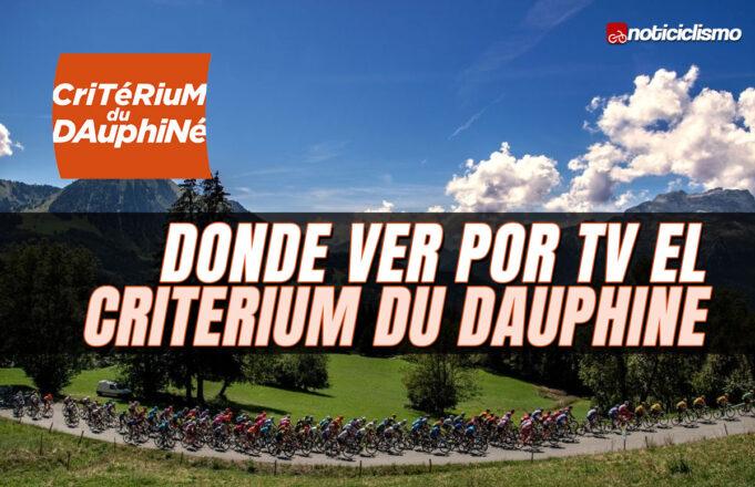 Donde ver por TV el Critérium du Dauphiné