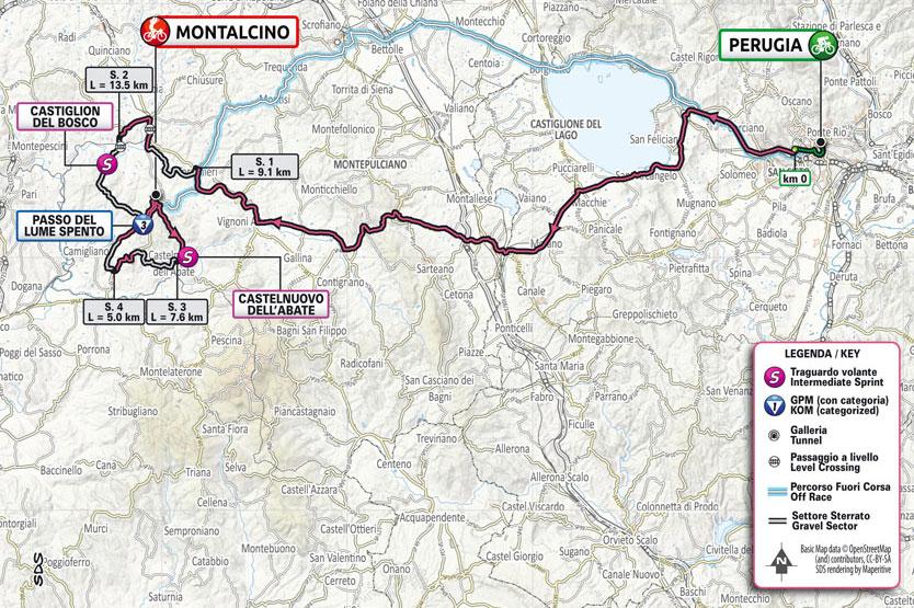 Giro de Italia 2021 - Etapa 11 - Recorrido