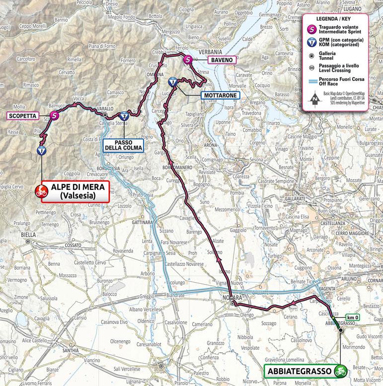 Giro de Italia 2021 - Etapa 19 - Recorrido