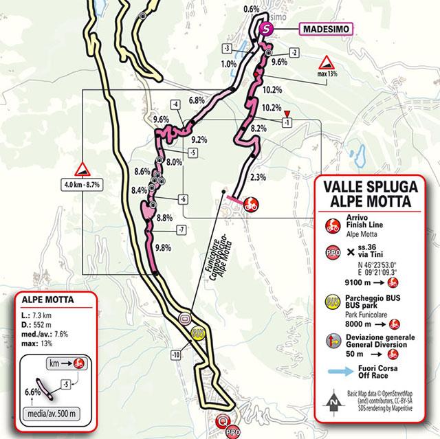 Giro de Italia 2021 - Etapa 20 - Últimos kilómetros