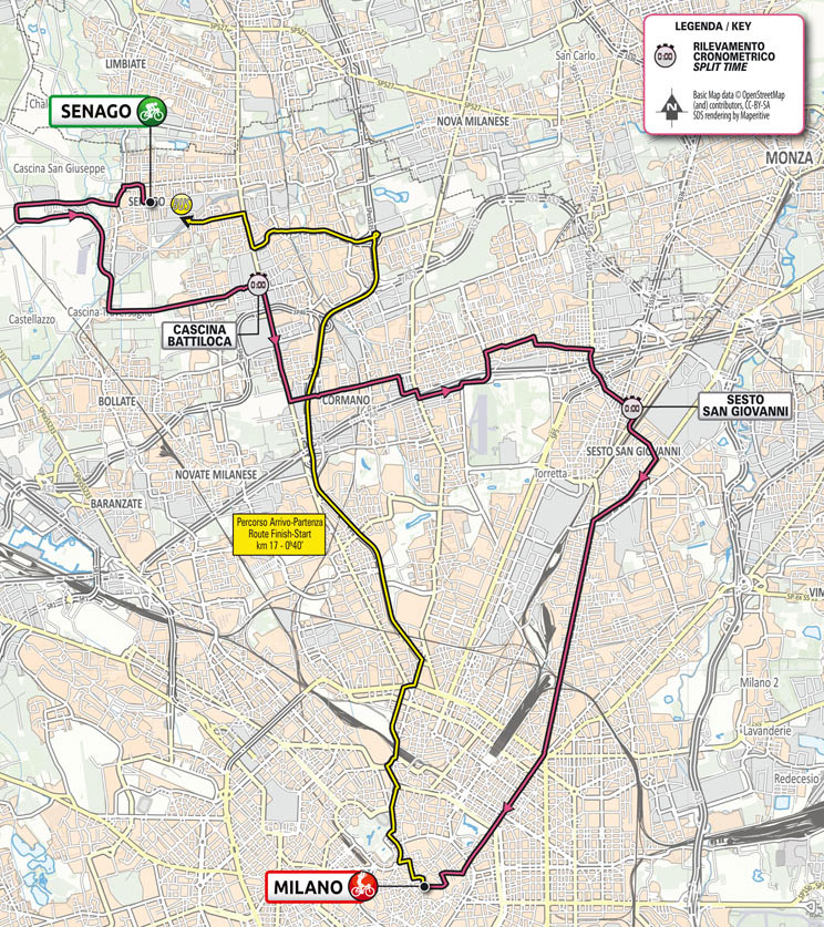 Giro de Italia 2021 - Etapa 21 - Recorrido