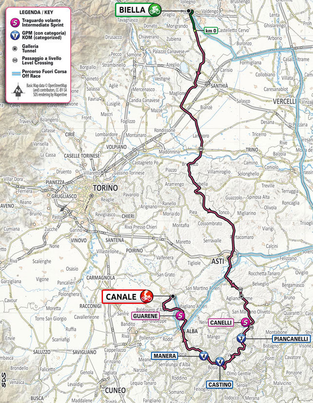 Giro de Italia 2021 - Etapa 3 - Recorrido