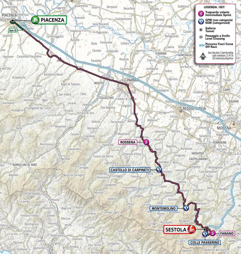Giro de Italia 2021 - Etapa 4 - Recorrido