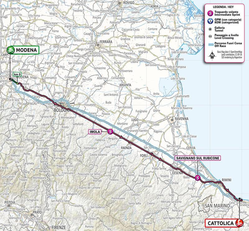 Giro de Italia 2021 - Etapa 5 - Recorrido