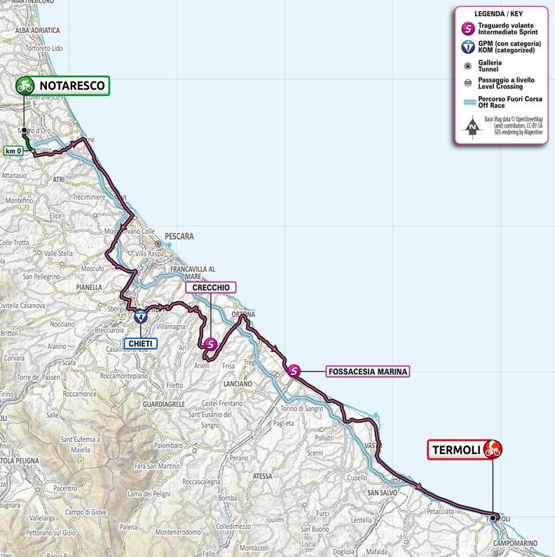 Giro de Italia 2021 - Etapa 7 - Recorrido