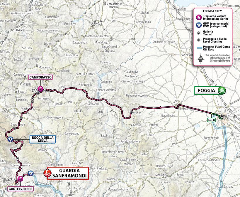 Giro de Italia 2021 - Etapa 8 - Recorrido