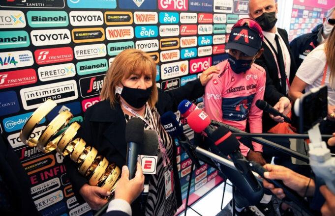 Tonina Pantani y Egan Bernal