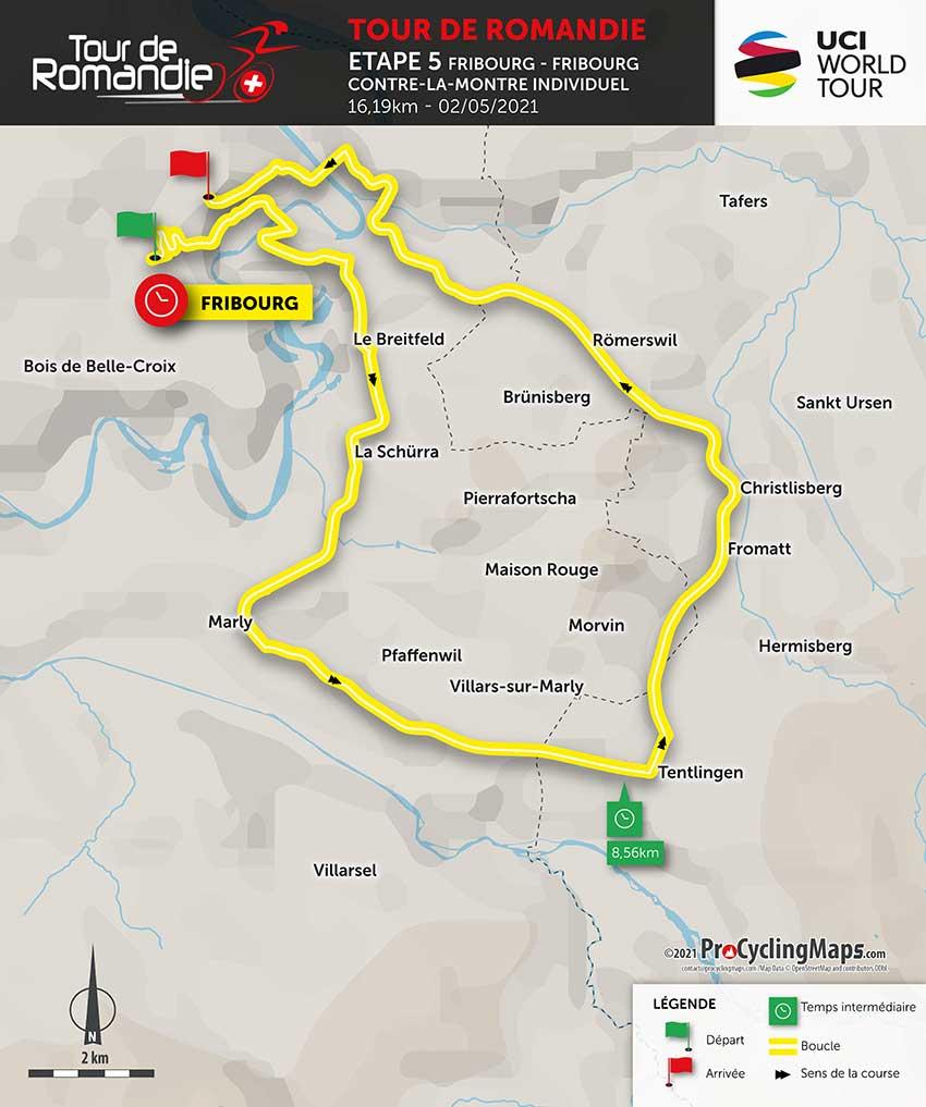Tour de Romandía 2021 (Etapa 5) Recorrido