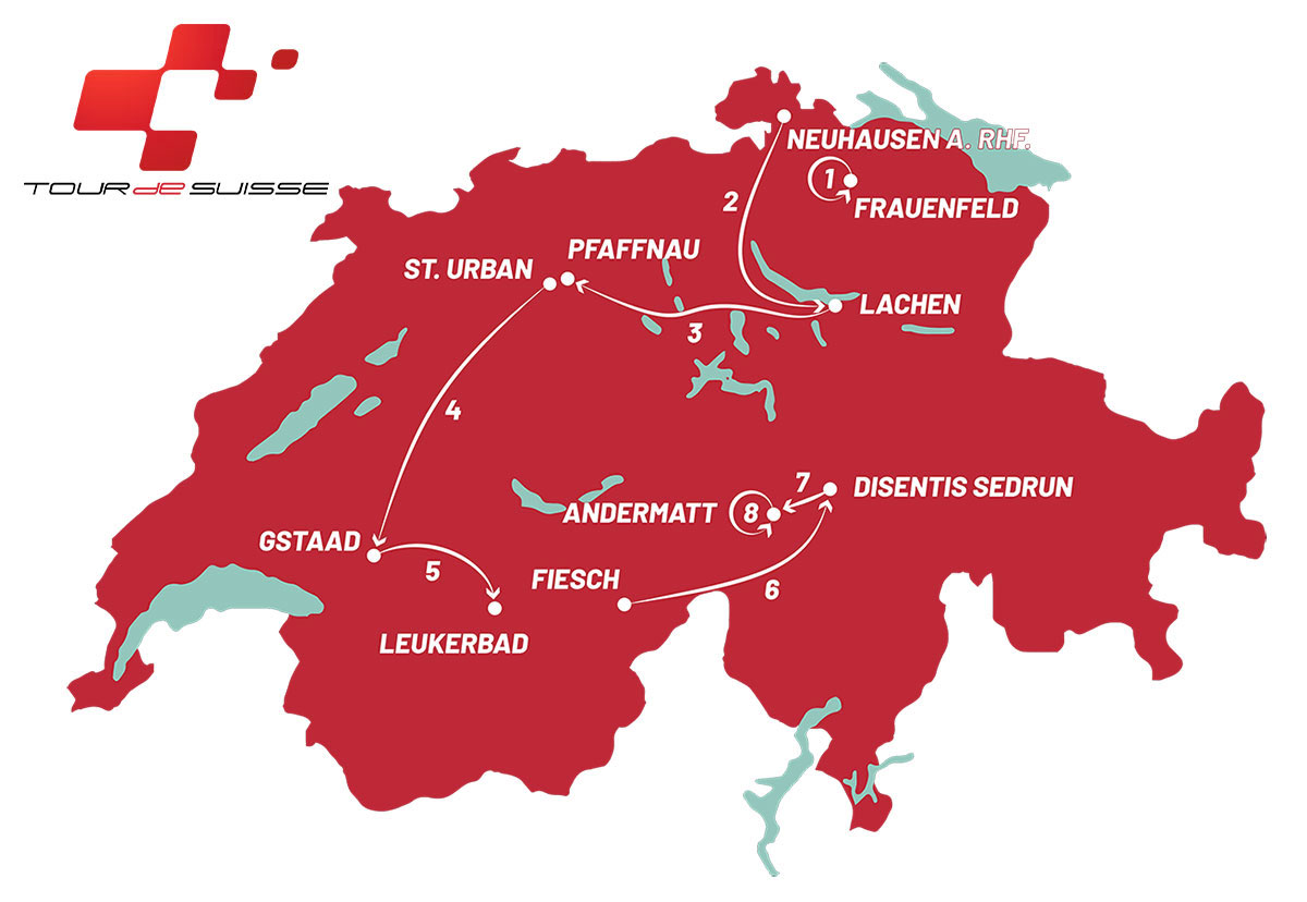 Tour de Suiza 2021 - Recorrido