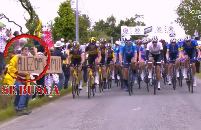 Fanático con un carel provoca una gran caída masiva en la Etapa 1 del Tour de Francia