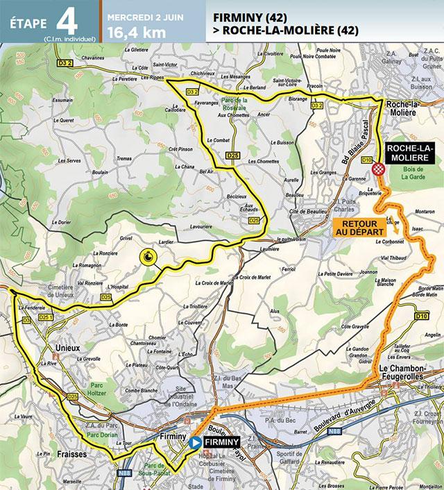 Critérium du Dauphiné 2021 - Etapa 4 - Recorrido