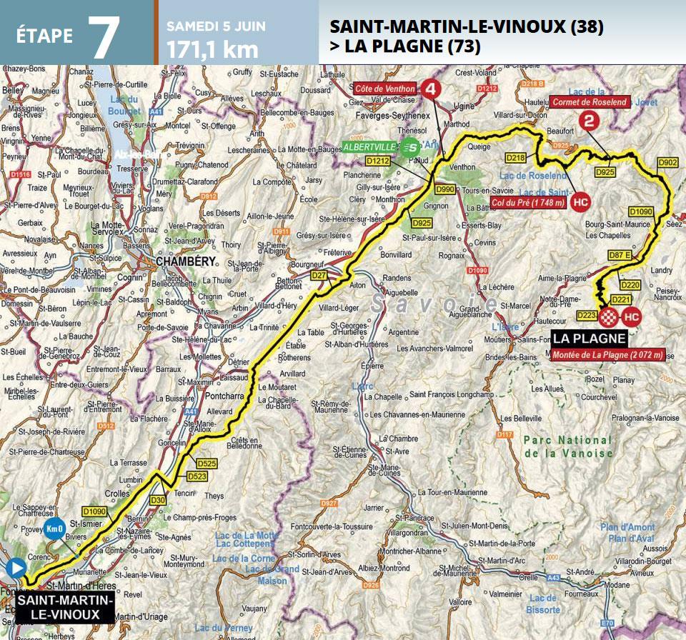 Critérium du Dauphiné 2021 - Etapa 7 - Recorrido