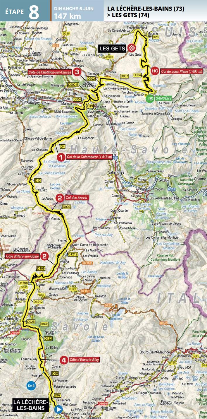 Critérium du Dauphiné 2021 - Etapa 8 - Recorrido