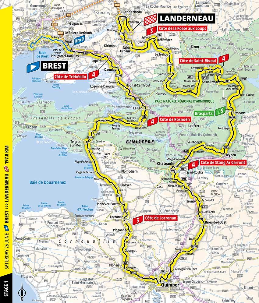 Tour de Francia 2021 - Etapa 1 - Recorrido